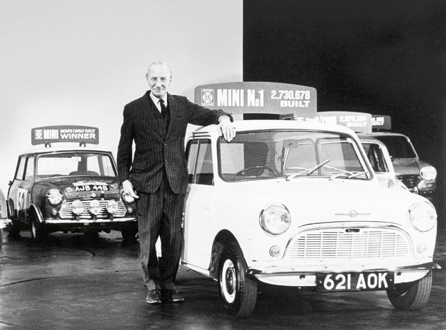 Sir Alec Issigonis: created the Mini in 1959, knighted in 1969