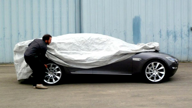 Tesla Model S prototype sedan