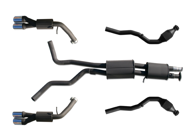 Arden Supercharger kit exhaust system