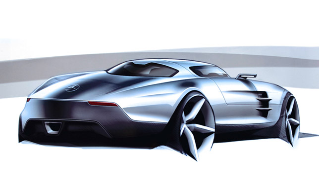 Mercedes-Benz SLS AMG Sketch