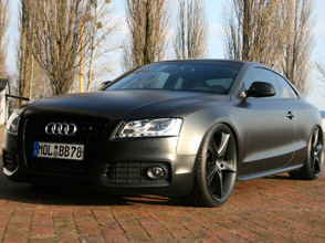 todays batmobile: avus performance audi a5 matt black