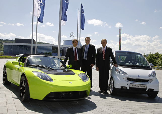 Daimler acquires stake in Tesla