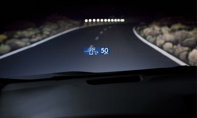 Lexus RX 450h Head-Up Display