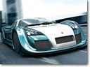 GUMPERT apollo speed on 24 Hours of Le Mans but off the track