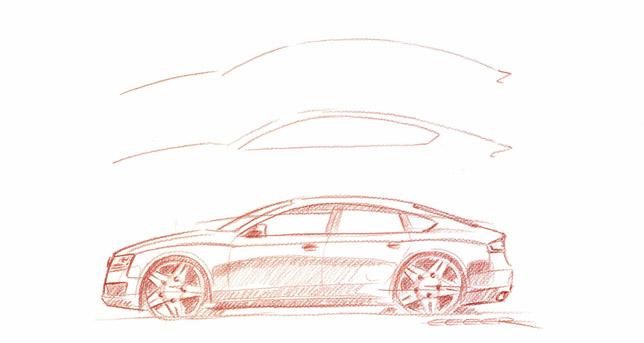 Audi A5 Sportback Sketch