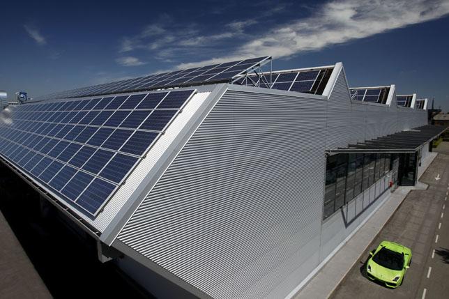 Automobili Lamborghini roof-top photovoltaic system