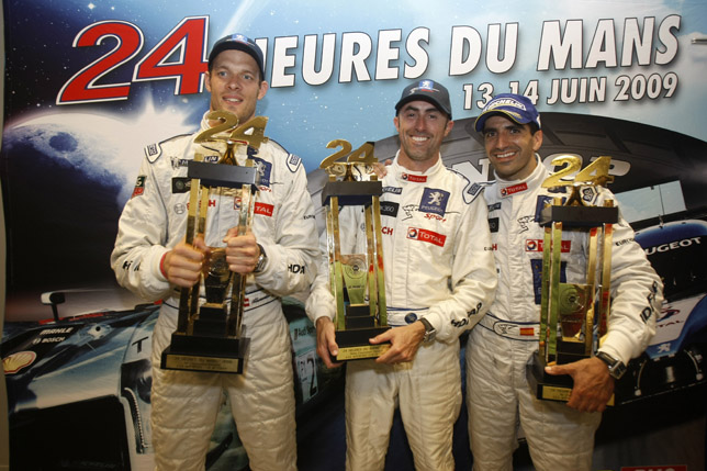 Team Peugeot Total winners at Le Mans