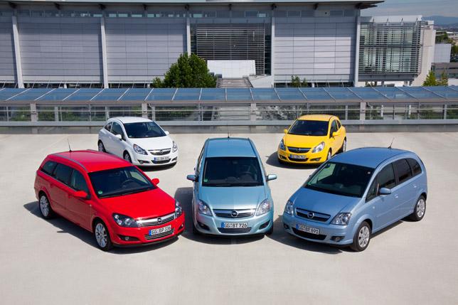Opel's LPG powered range