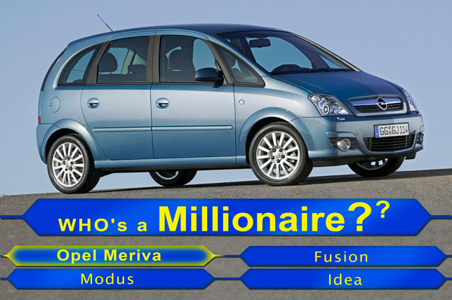 Opel Meriva is the most popular small monocab in Europe