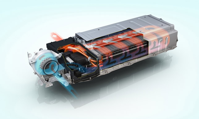 Toyota Prius Battery Pack showing airflow