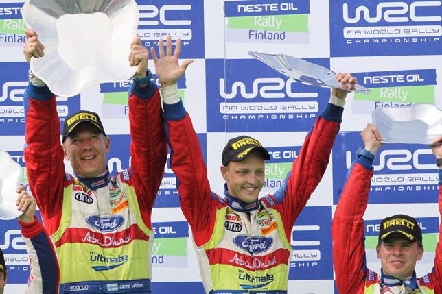 Mikko Hirvonen (FIN) / Jarmo Lehtinen - Ford Focus RS WRC. Winners, 2009 Rally Finland