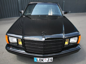 inden-design mercedes-benz 560 se - real gangster getaway car