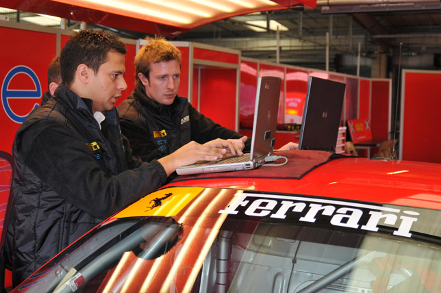 Innovative Garage Management Software' allows race teams to monitor up to 240 tyres at once for pressure and temperature.