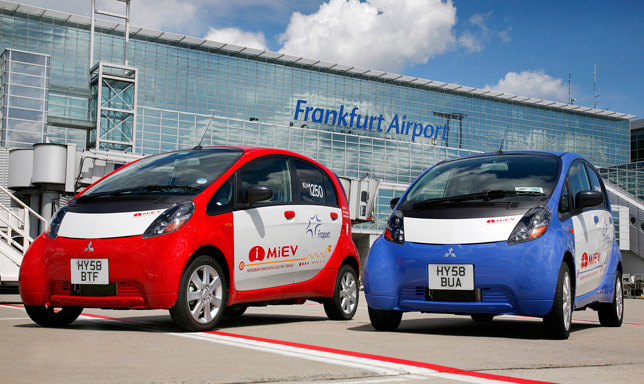 Mitsubishi i-MiEV at Frankfurt airport