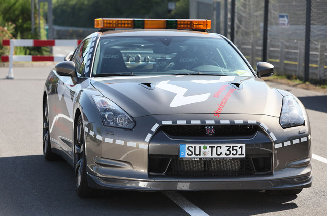 Nissan GT-R rapid response car - presented to the Nordschliefe circuit