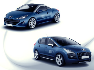 Peugeot's 3008 HYbrid4 and RCZ HYbrid4 concepts at Frankfurt Motor Show