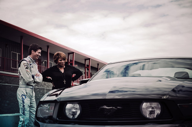 Queen Latifah Unleashed her Inner Mustang as part of the Mustang '10 Unleashed Campaign