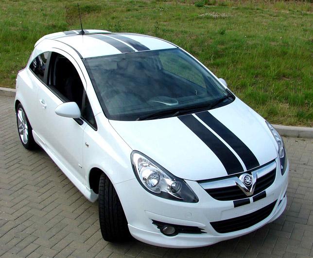 Vxr racing stripes offer for vauxhall 3 door corsa