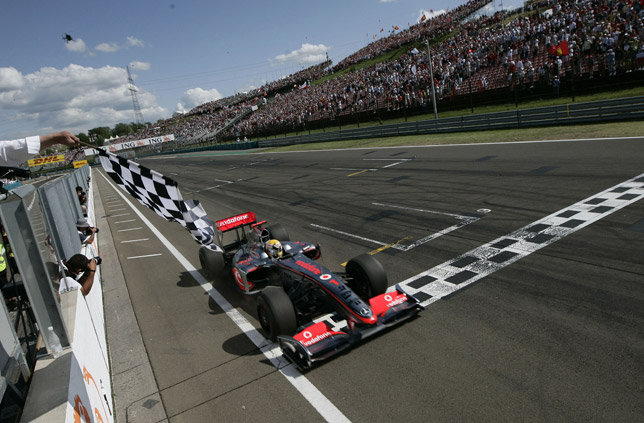 Victory at the Hungarian GP for Lewis Hamilton in the Vodaphone McLaren Mercedes: the first win ever for a KERS
