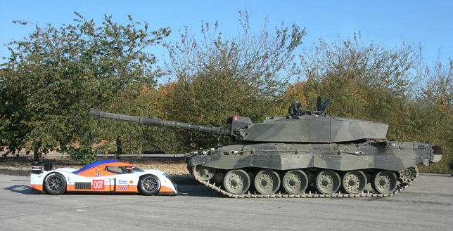 Aston Martin LMP1 vs Challenger II Battle Tank