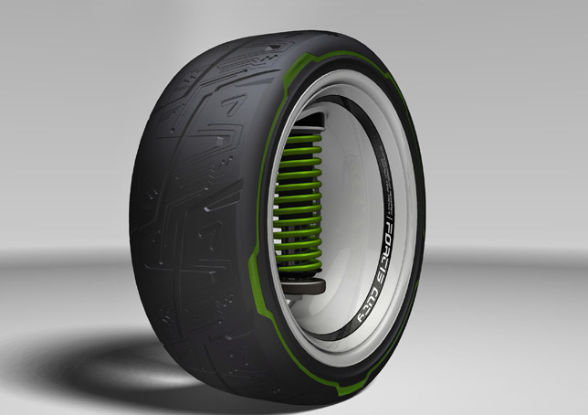 An example of Kumho's new laser etching process that is set to transform the way the company designs its tread patterns