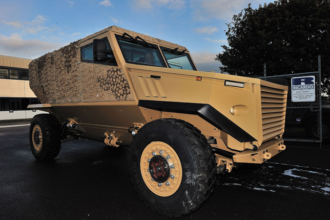 The new Ocelot LPPV vehicle brings together innovations in automotive and defence technologies