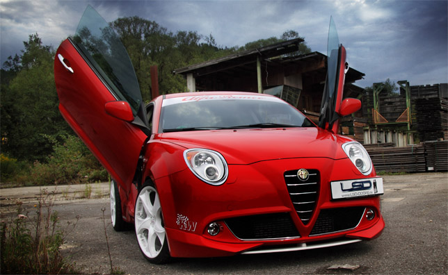 Alfa Romeo MiTo with LSD gull-wing doors