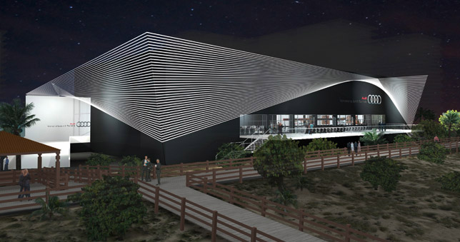Audi Pavilion on Miami Beach
