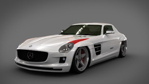 GWA Panamericana styling kit for the 2010 Mercedes-Benz SLS