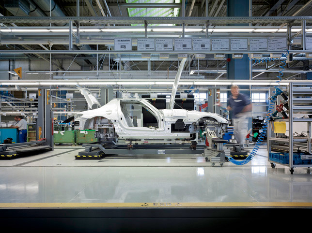 Mercedes-Benz SLS AMG Series Production in Sindelfingen plant
