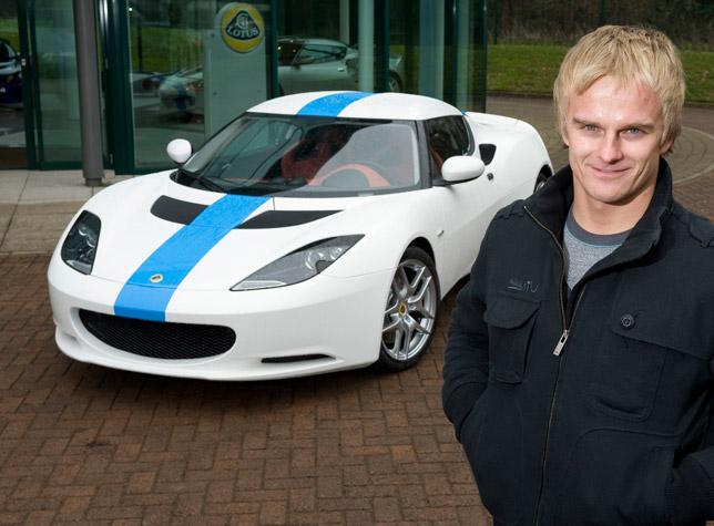 Heikki Kovalainen and his custom Lotus Evora