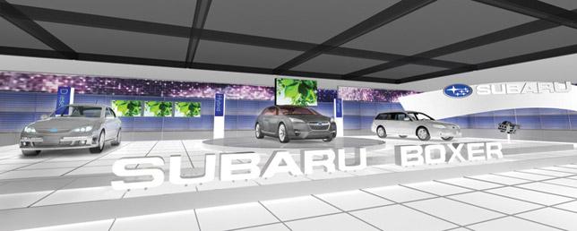 Subaru Booth at Geveva Motor Show 2010