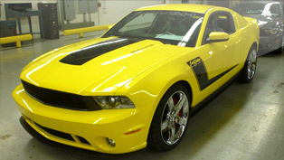 Sparkling Yellow ROUSH Barrett-Jackson Edition Mustang