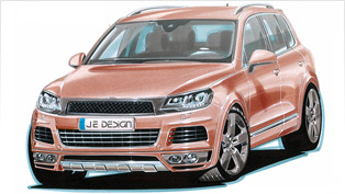 2011 VW Touareg goes WIDE with new JE DESIGN styling kit