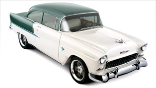 gm performance parts head-turning e-rod 1955 chevy