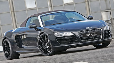 audi r8 v10 spyder boosted to 600hp by sport wheels