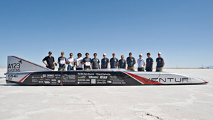 Venturi Jamais Contente topped 515 km/h - a new world record