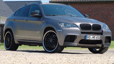 manhart racing m x6r twin turbo boosted to 687 ps