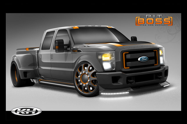 Last is the Suspensions' 2011 Ford F-350 Super Duty, which is