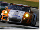 Porsche 911 GT3 R Hybrid at the 2010 Petit Le Mans (video)