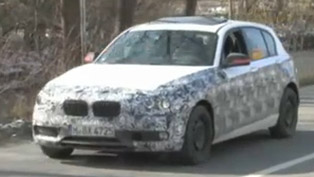 2012 BMW 1 Series 5-door spy video