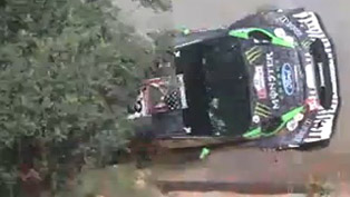 Ken Block - Ford Fiesta WRC crash [video]