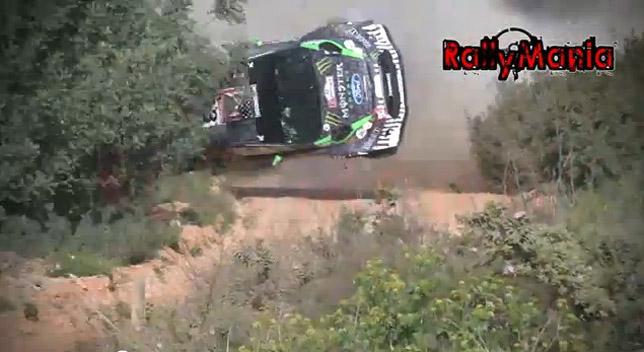Ken Block - Ford Fiesta WRC crash [video]