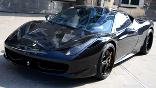 ferrari 458 black carbon by anderson germany