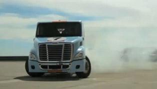 Size Matters - Semi Truck Gymkhana [video]