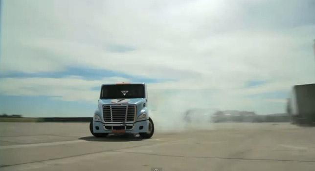 truck drift gymkhana