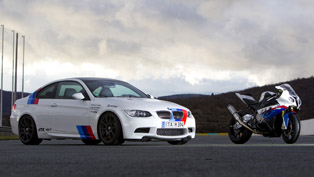 BMW E92 M3 vs BMW S 1000 RR Superbike featuring Akrapovic [video]