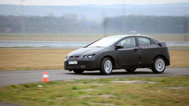 2012 Honda Civic at the track
