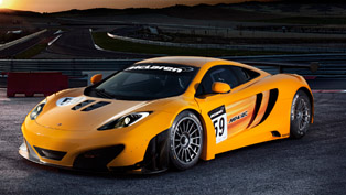 Three McLaren MP4-12C GT3 race cars at Spa-Francorchamps
