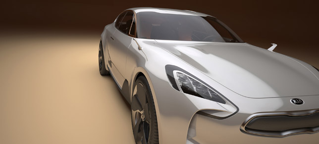 KIA Four-door Sports Sedan Concept FrontSide